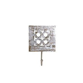 Trellis-Single-Hook-In-Distressed-Silver_Mela-Artisans_Treniq_0