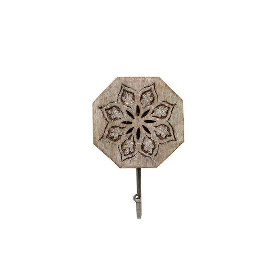 Serena octagon single hook in whitewash mela artisans treniq 1 1534350408561