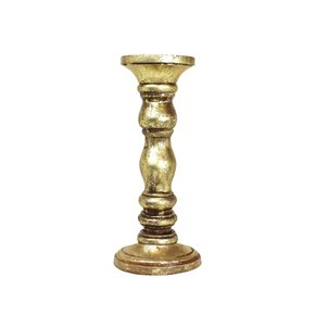 Willow-Candleholder-Medium-In-Distressed-Gold_Mela-Artisans_Treniq_0