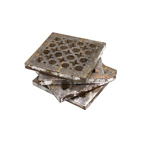 Trellis-Coaster-Set-In-Distressed-Silver_Mela-Artisans_Treniq_0