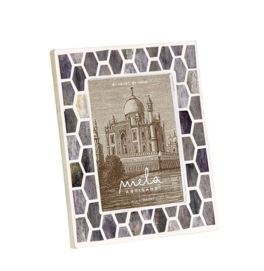 Gramercy frame in grey and white mela artisans treniq 1 1534435974687