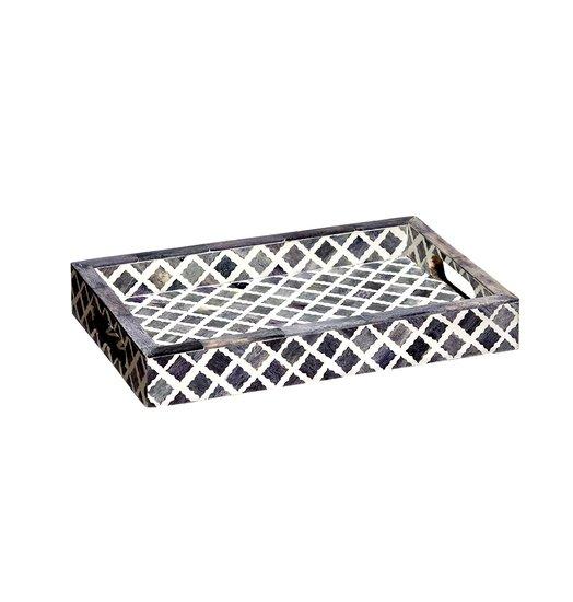 Fantasy tray small in grey and white mela artisans treniq 1 1534468942347