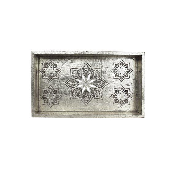 Serena tray small in distressed silver mela artisans treniq 1 1534509682351