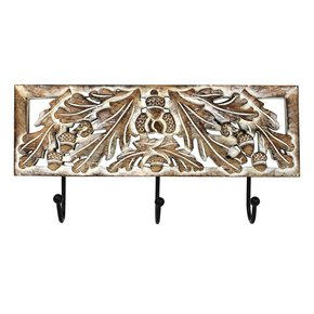 Oak-Leaf-Triple-Hook-In-Distressed-Ivory-Over-Medium-Burnt_Mela-Artisans_Treniq_0