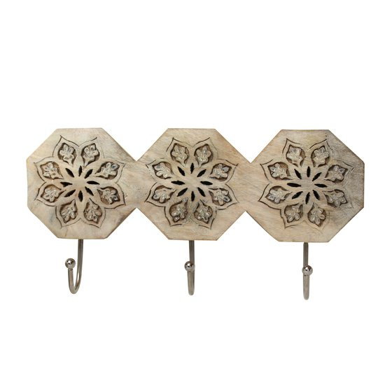 Serena octagon triple hook in whitewash mela artisans treniq 1 1534510379569