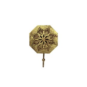 Serena-Octagon-Single-Hook-In-Distressed-Gold_Mela-Artisans_Treniq_0