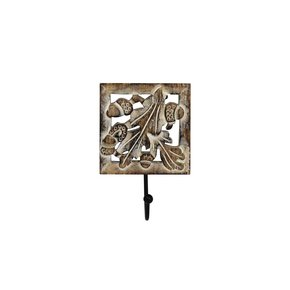 Oak-Leaf-Single-Hook-In-Distressed-Ivory-Over-Medium-Burnt_Mela-Artisans_Treniq_0