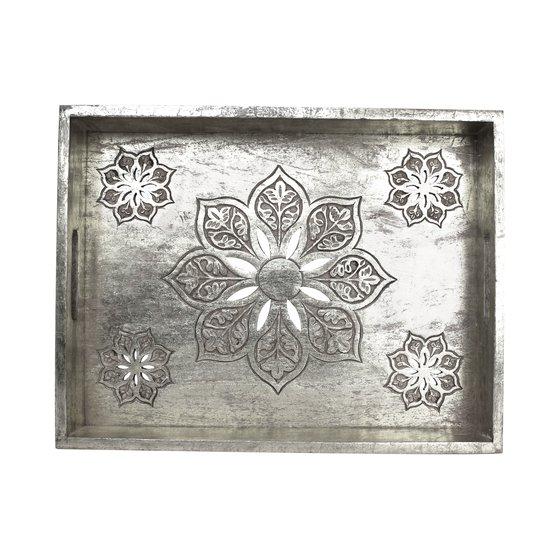 Serena tray medium in distressed silver mela artisans treniq 1 1534518273896