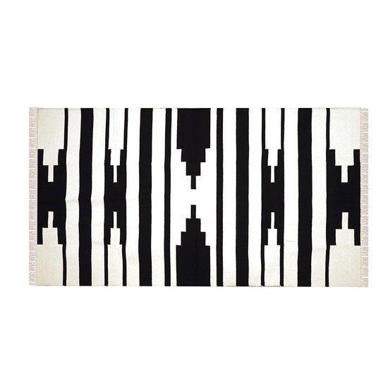 Tapti rug in black and white  mela artisans treniq 1 1534521244816