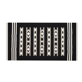 Kaveri-Rug-In-Black-And-White-_Mela-Artisans_Treniq_0