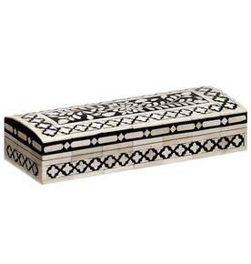 Imperial Beauty Decorative Box Long in Black and White