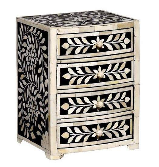 Imperial beauty keepsake chest in black and white
