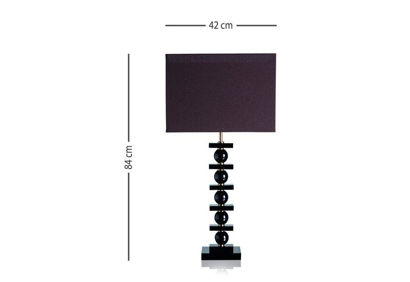 Lonely black table lamp dettagli firenze treniq 5