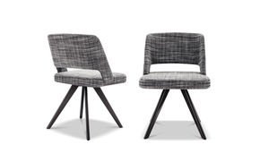 Owens Chair Aluminium Legs Fabric