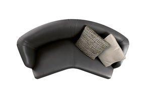 Creed Semiround Lounge Sofa 2 Seater Leather