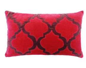 Taj Pink Velvet Pillow