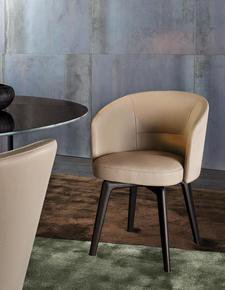 Amelie Dining Chair : Swivel Base 360° Swivel without return Leather