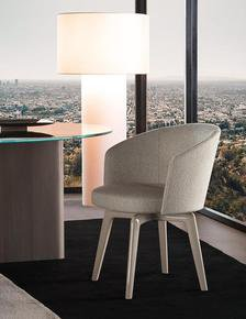 Amelie Dining Chair : Swivel Base 360° Swivel without return Fabric