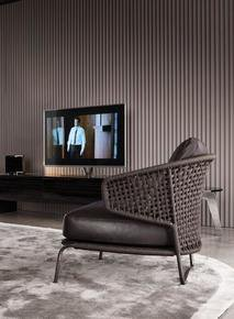 Aston Cord Indoor Armchair Leather
