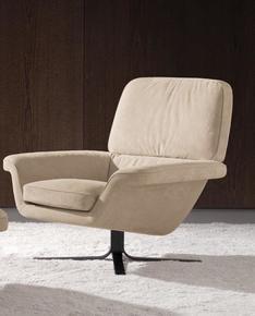 Blake Soft Armchair Swivel Base 360° Swivel with return Fabric