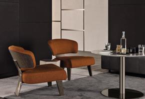 Creed  Wood  Armchair Fabric