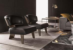 Creed  Wood  Armchair Leather
