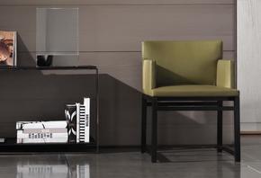 Flynt Little Armchair Wood Base Version Fabric
