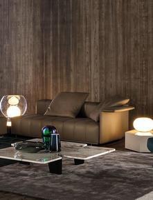 Freeman Lounge 182cm Leather