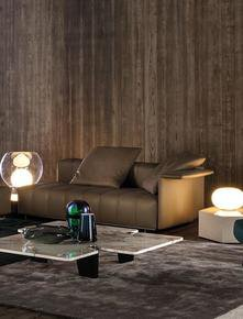 Freeman Lounge Leather 203cm