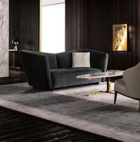 Lounge Seymour High 2 Seater Fabric
