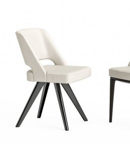 Owens Chair Aluminium Legs Leather