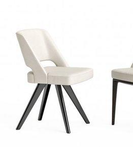 Owens Chair Aluminium Legs Leather