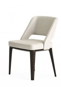 Owens Chair Wood Base Leather