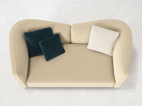 Seymour High 2 Seater Leather