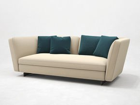 Seymour Low Sofa 2 Seater Leather