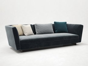 Seymour Low Sofa Fabric 3 Seater