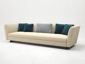 Seymour Low Sofa Leather 3 Seater