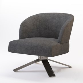Creed Small Armchair Swivel Base 360° Swivel with return Leather