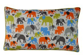 Elephant City Pillow #54