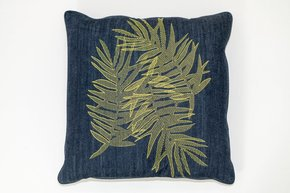 Multi Palm Denim Pillow #162