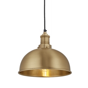 Brooklyn Dome Pendant - 8 Inch - Brass