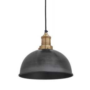 Brooklyn Dome Pendant - 8 Inch - Pewter