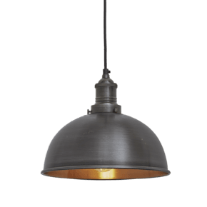Brooklyn Dome Pendant - 8 Inch - Pewter & Copper
