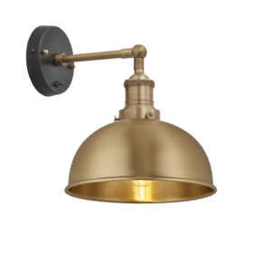 Brooklyn Dome Wall Light - 8 Inch - Brass