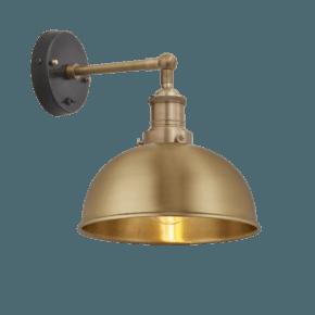 Brooklyn Dome Wall Light - 8 Inch - Brass