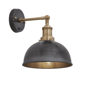 Brooklyn Dome Wall Light - 8 Inch - Pewter