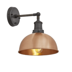 Brooklyn Dome Wall Light - 8 Inch - Copper