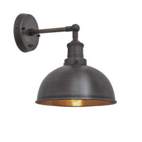 Brooklyn Dome Wall Light - 8 Inch - Pewter & Copper