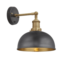 Brooklyn Dome Wall Light - 8 Inch-Pewter & Brass
