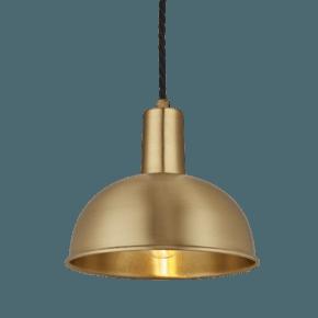 Sleek Dome Pendant - 8 Inch - Brass